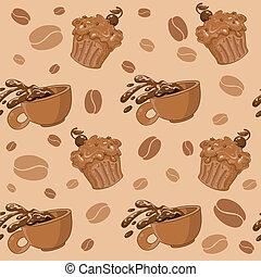 café, petits gâteaux, seamless
