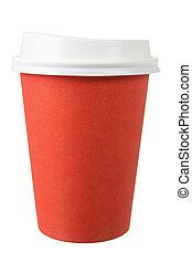 café, plat à emporter, tasse