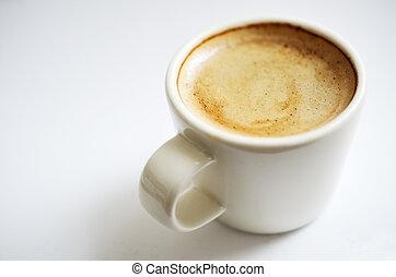 café, primer plano, espresso, taza