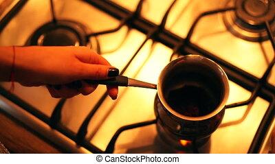 café, processus, fabrication maison