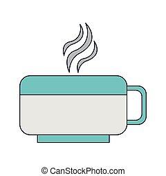 café quente, copo