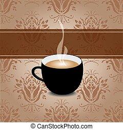café, retro, fundo