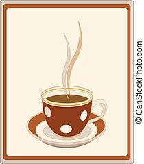café, retro, tasse