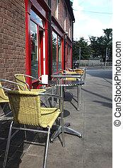 café, rue, classique, européen