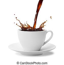 café, salpicadura