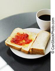 café, sanduíche, fundo, caseiro, copo