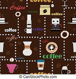 café, seamless, fond