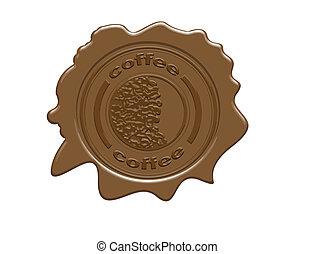 café, selo cera