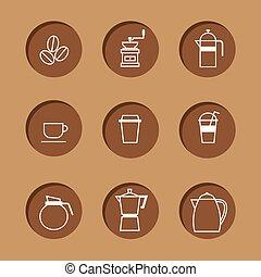café, set., ícone