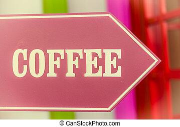 café, signe