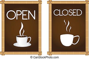 café, signes