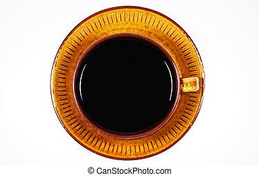 café, sommet, tasse