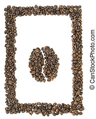 café, symbole, cadre
