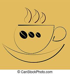 café, symbolique, tasse