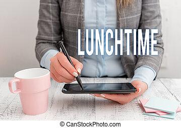 café, téléphone, business, séance, milieu, photo, écriture, showcasing, mobile, note, table., petit déjeuner, dîner, repas, tasse, lunchtime., femme, avant, après, jour, projection