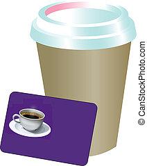 café, tarjeta