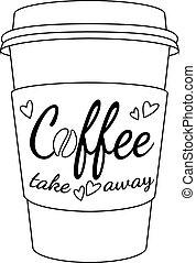 café, taza de papel