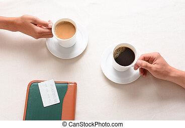 café, temps