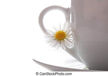 café thé, ou, tasse