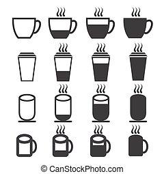 café thé, tasse