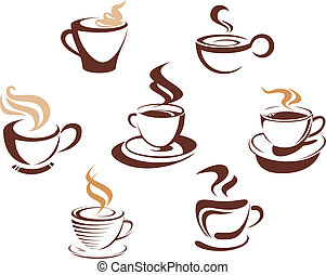 café thé, tasses