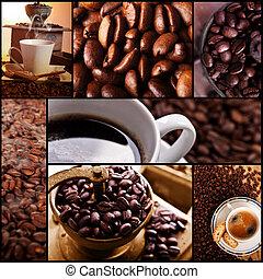 café, themed, colagem, relaxe, coffe, tempo