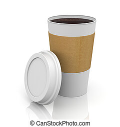 café, thermo, casquette