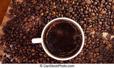 café, tourner, tasse