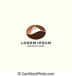 café, usine, haricot, vecteur, téléchargement, logo
