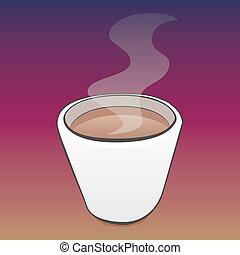 café, vapeur, joli, tasse