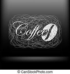 café, vecteur, conception, ton, fond