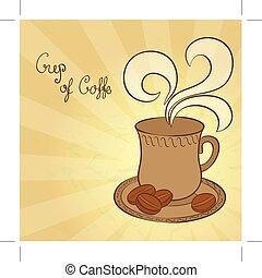 café, vecteur, illustration, tasse
