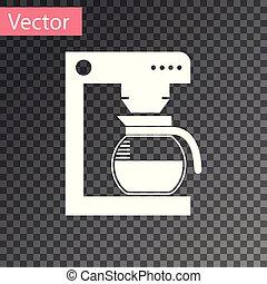 café, verre, pot, isolé, illustration, machine, arrière-plan., vecteur, blanc, transparent, icône
