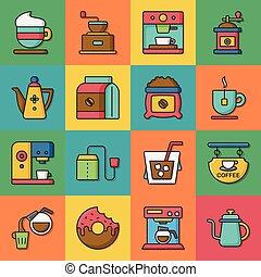 café, vetorial, jogo, ícone