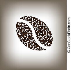 café, vindima, feijão, logotipo