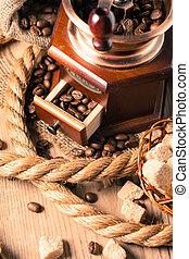 café, y, amoladora