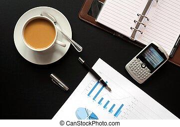 café, y, financiero, datos