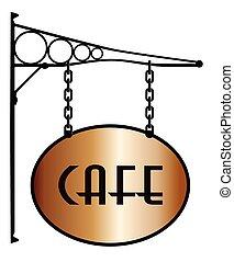 café, zeichen