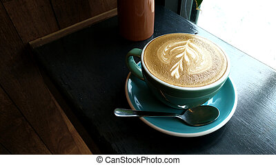 cafe au lait, tisch., becher