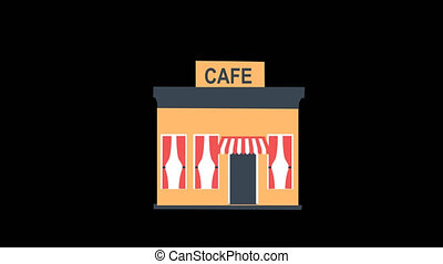 Cafe Building Animation
