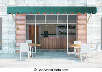 Cafe Exterior Front
