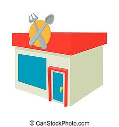 Cafe icon, cartoon style