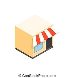 Cafe icon, isometric 3d style