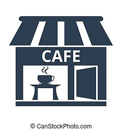 Cafe icon on white background.