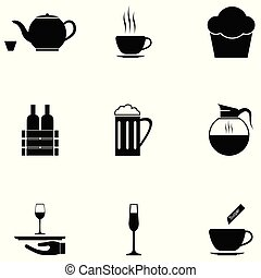 cafe icon set
