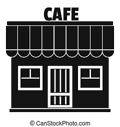 Cafe icon, simple style.