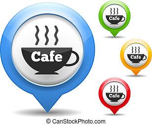 cafe, ikon
