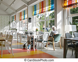 cafe in elderly house