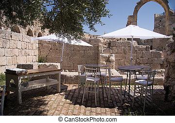 Cafe in Old city in Jerusalem