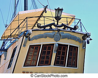 Cafe in style of the old ship.